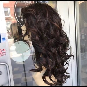 Accessories - Brown wig sale swisslace lacefront curls 2019 wig